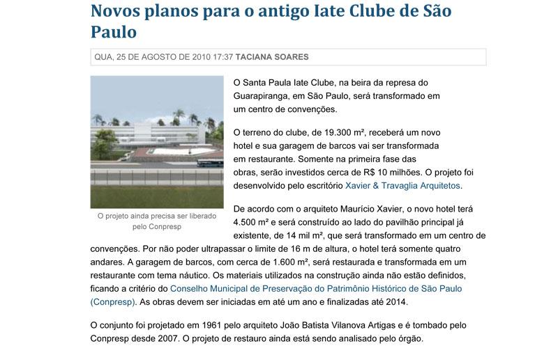 Novos planos para o antigo Iate Clube de São Paulo