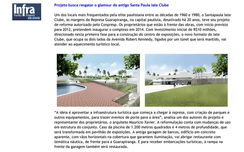 Projeto busca resgatar o glamour do antigo Santa Paula Iate Clube