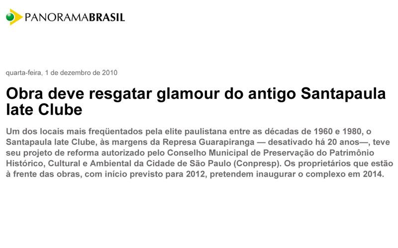Obra deve resgatar glamour do antigo Santapaula Iate Clube