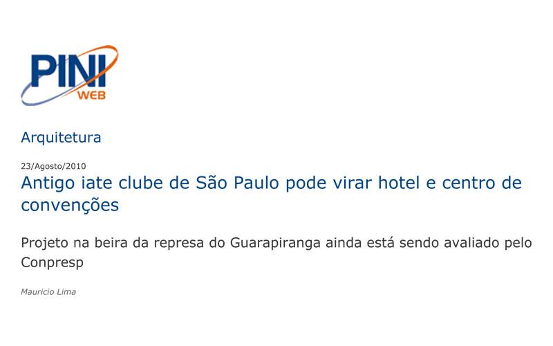 Antigo Iate Clube de São Paulo pode virar hotel e centro de convenções